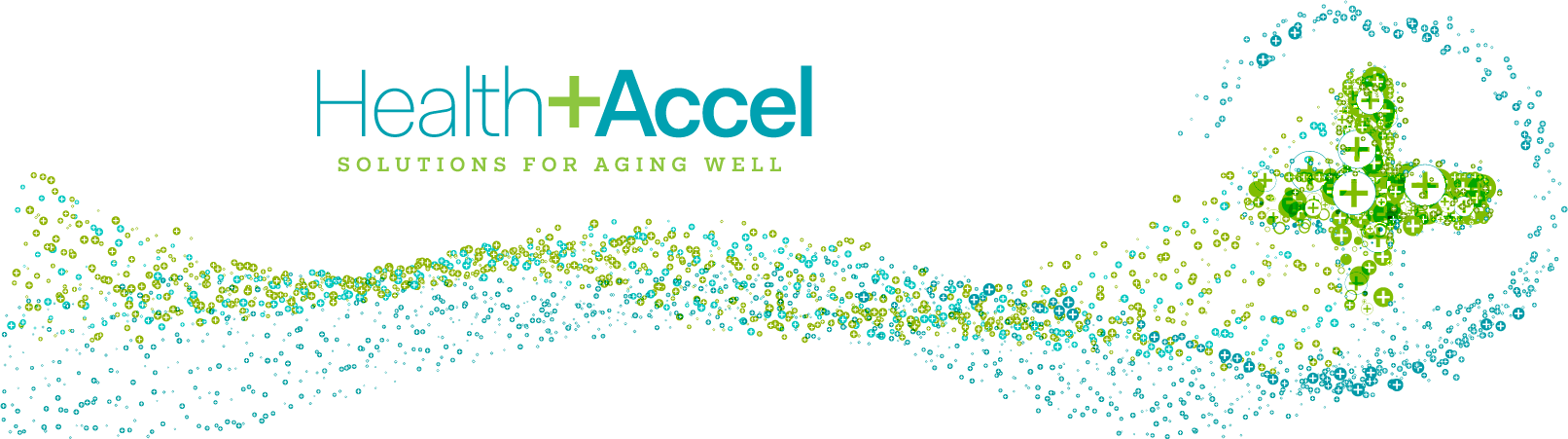 Health + Accel Solutions for Aging Well Graphic