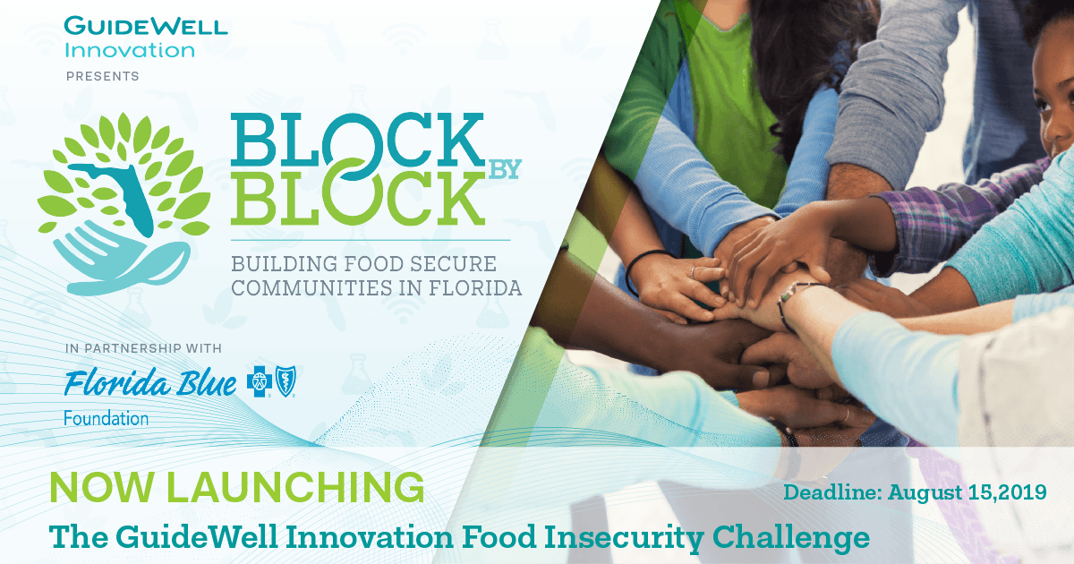 GuideWell Innovation Presents Block By Block Building Food Secure Communities in Florida. In Partnership With Florida Blue Foundation. Now Launching The GuideWell Innovation Food Insecurity Challenge Deadline August 15, 2019